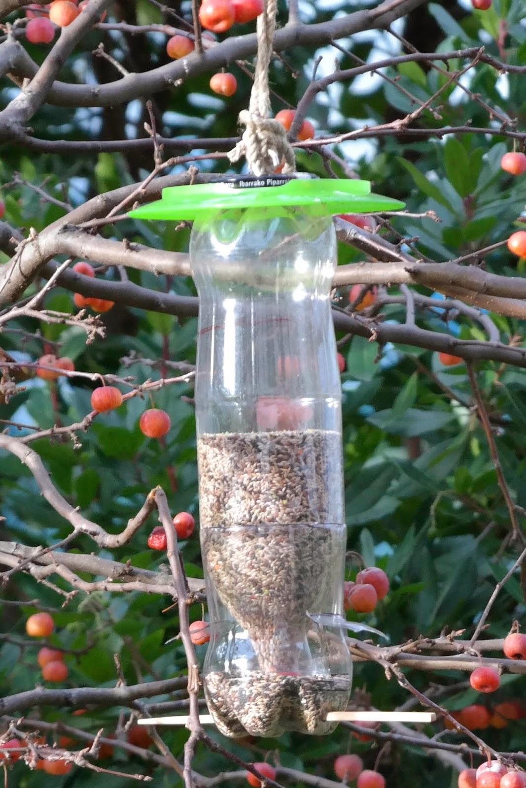 Serantes natura comedero para aves casero for Bebederos para aves jardin