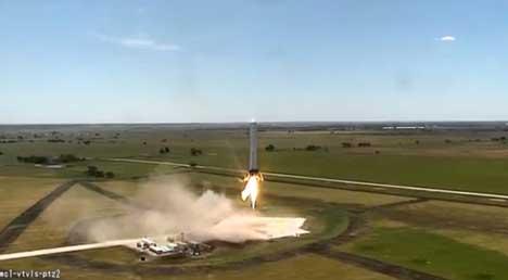 SpaceX Grasshopper test rocket