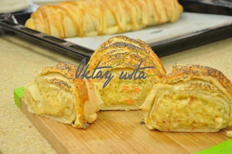 2 Peynirli Patatesli Rulo Poğaça Tarifi
