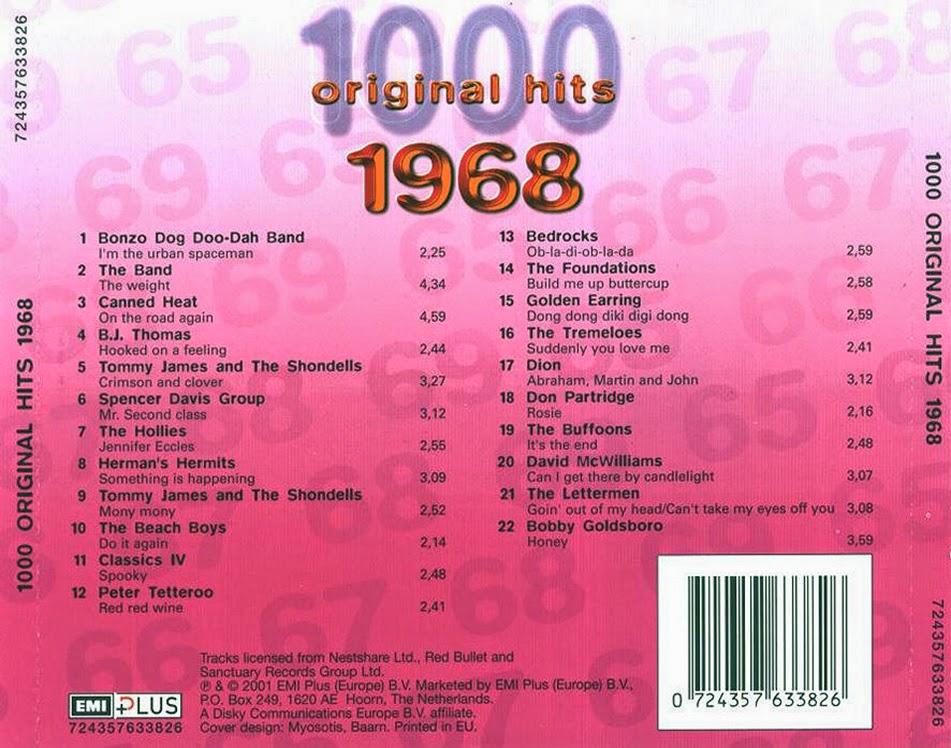 MUSIC REWIND 1000 Original Hits 1968 2001