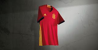 Gambar render jersey Spanyol Home euro 2016 di enkosa sport toko online jersey terbaru dengan kualitas terbaik pasar tanah abang jakarta pusat