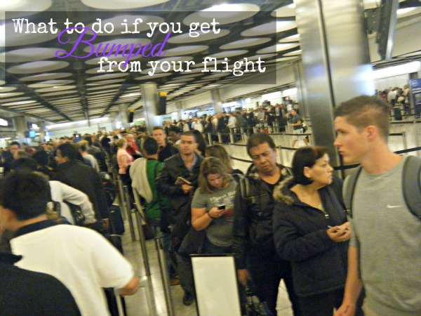 What to do if you're bumped from a flight