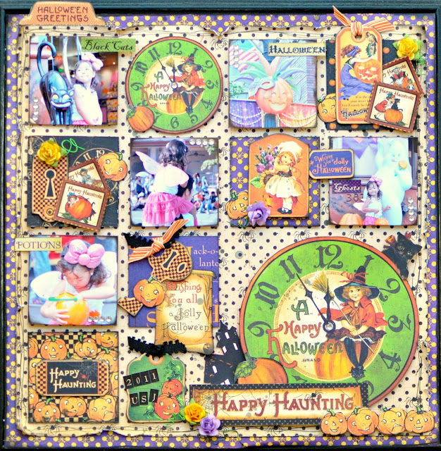Graphic45 HappyHaunting layout project Maiko Miwa