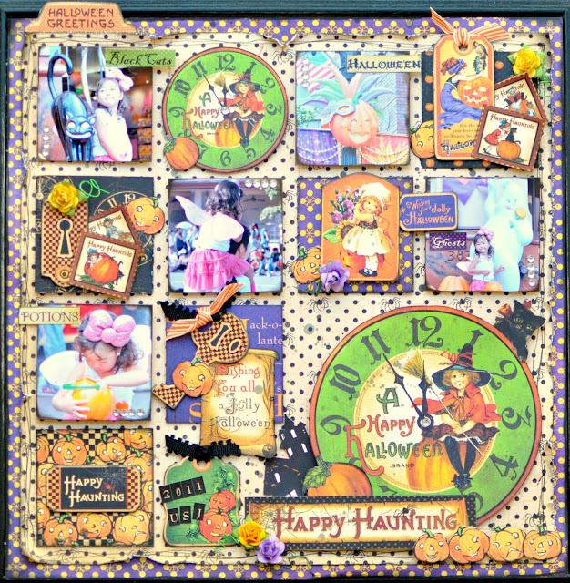 Graphic45 HappyHaunting layout project Maiko Miwa
