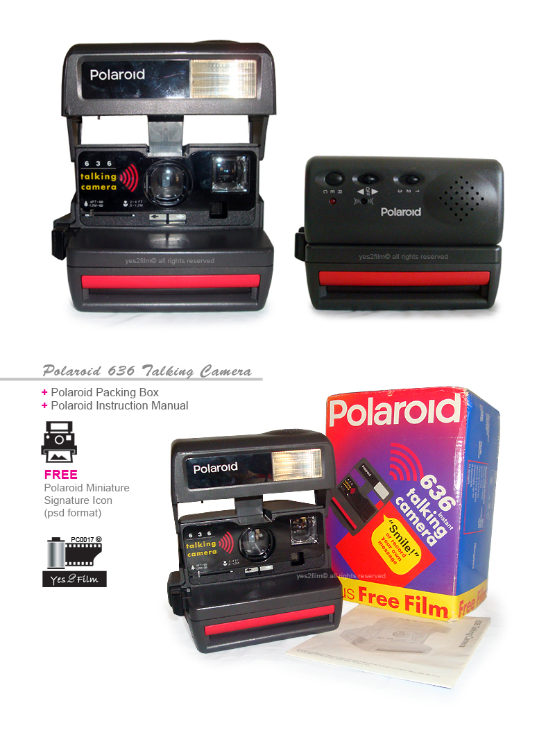 yes2film polaroid 636 talking camera with user manual Polaroid Camera Model 80A Polaroid Cameras Z2300 Manual
