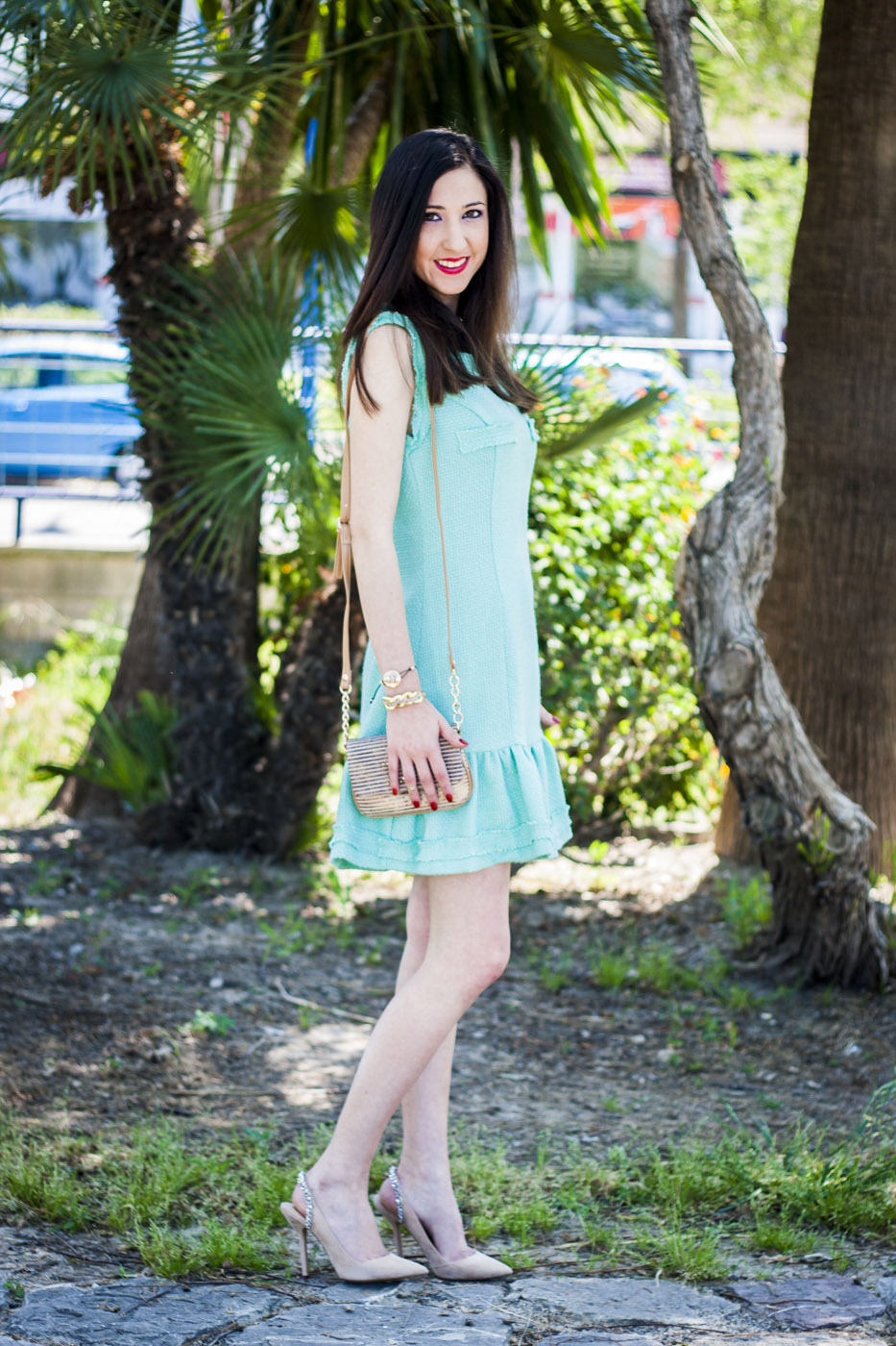 mint doll dress