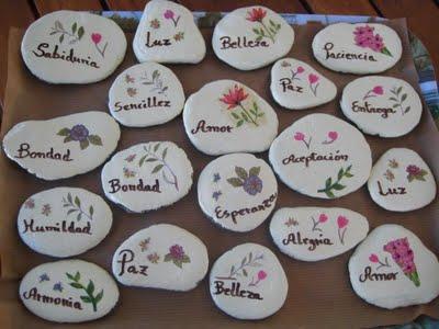Piedras con mensaje