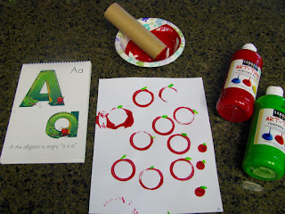 Apple A day painting craft