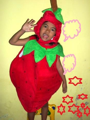 KSF-009 Kostum Buah Strawberry
