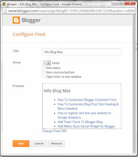 How To Add a Recent Posts Feed to a Blogger Blog