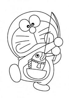 Sketsa Gambar Mewarnai Doraemon 201603