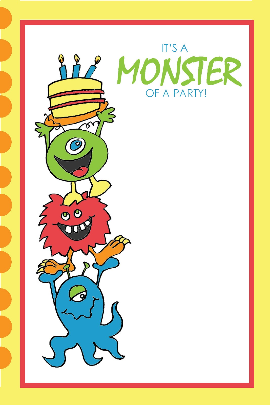 Everyday Art: Monster Party Printables - FREE!