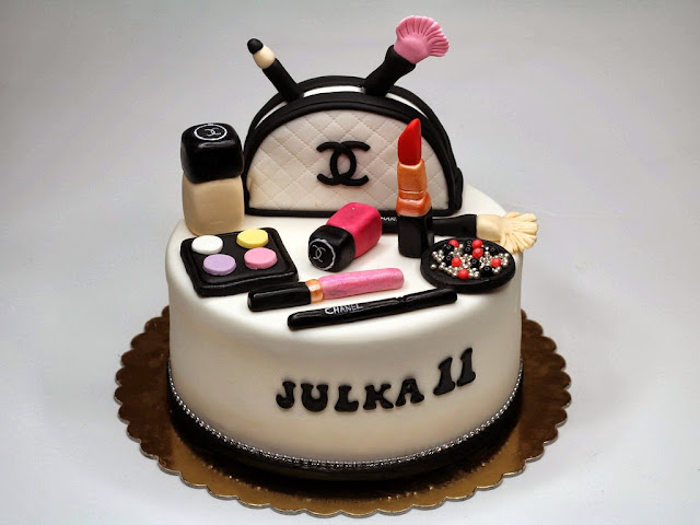 Birthday Cake for Girl - Chanel Cosmetics, London Cakes
