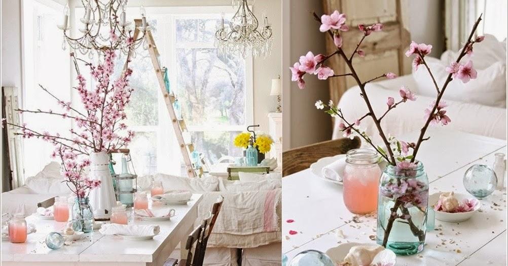 d coration salon avec des fleurs de cerise d coration. Black Bedroom Furniture Sets. Home Design Ideas