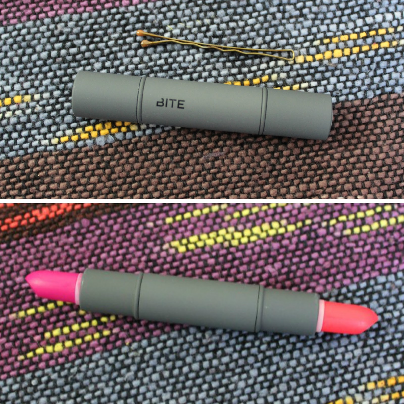 Bite Beauty Luminous Crème Lipstick Duo in Tangerine/Lingonberry size