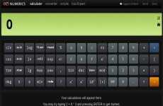Numerics: calculadora científica y conversor de monedas y unidades online