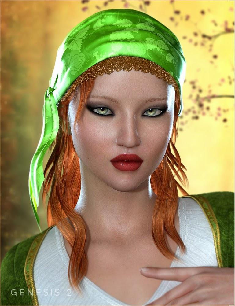 Gypsy Bundle - HD Caractère, Outfit, cheveux et Poses