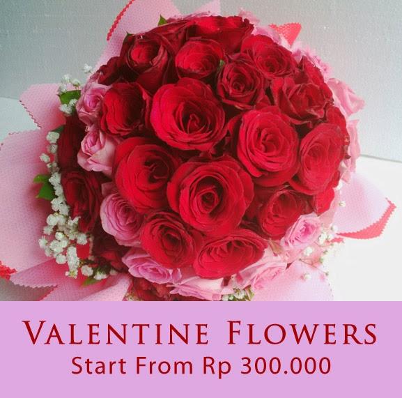 jual bunga hadiah valentine terindah