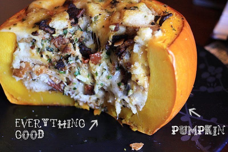 That's a pumpkin. It's stuffed with everything good. But before we ge...
