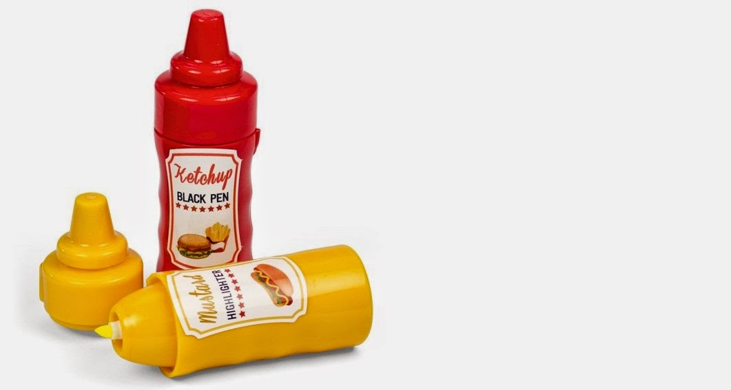 mustard-ketchup-pen-and-highlighter-ketcep-ve-hardal-kalem-seti