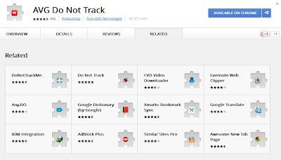 AVG do not track, do not track me