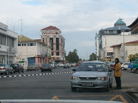 View of another part of Kuala Belait town from the old market place