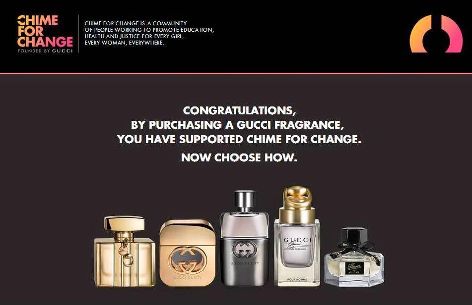 Gucci Chime for Change 2014, Gucci Fragrance, Gucci Parfums, Gucci Premiere, Flora by Gucci, Gucci Guilty pour Femme, Gucci Guilty pour Homme, Gucci Made to Measure,