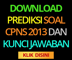 soal CPNS 2013 dan kunci jawaban
