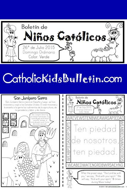 Catholic Kids Bulletin, Kids can learn at Mass, FREE PRINTABLE