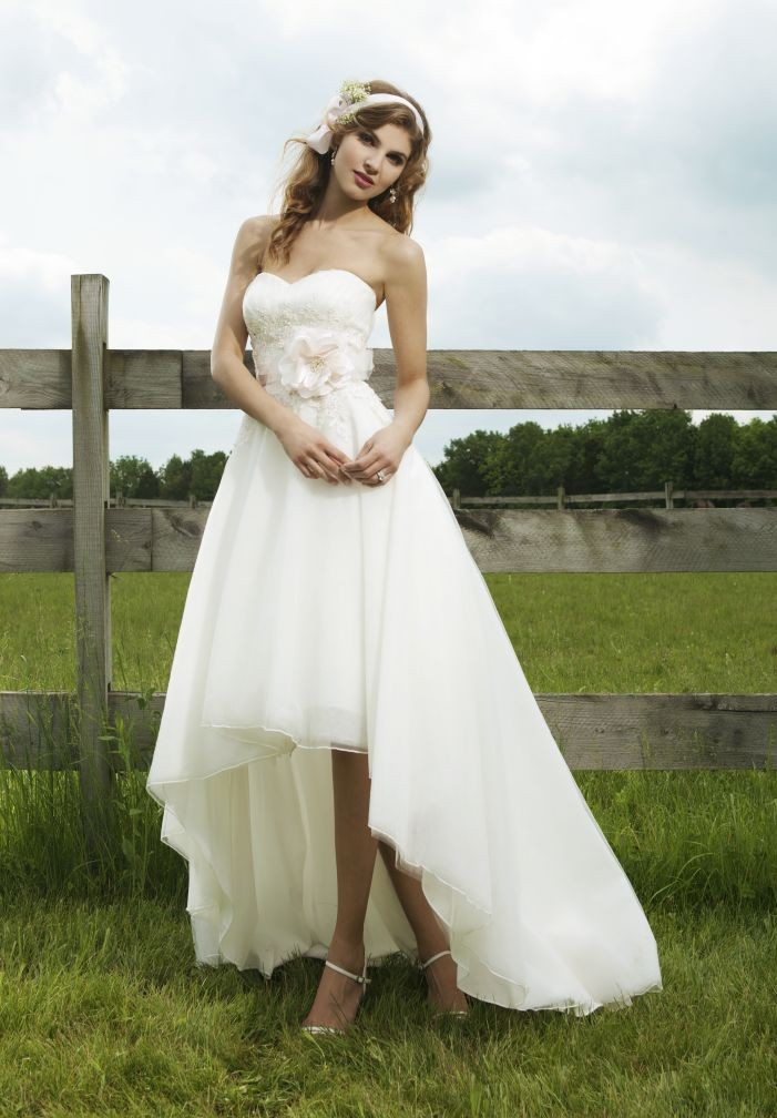 Whiteazalea simple dresses simple high low wedding dresses for Sweetheart halter wedding dress