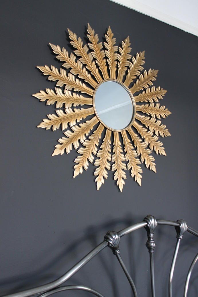 Cheap and Easy Before and After: DIY Antique Gold Starburst Mirror ...