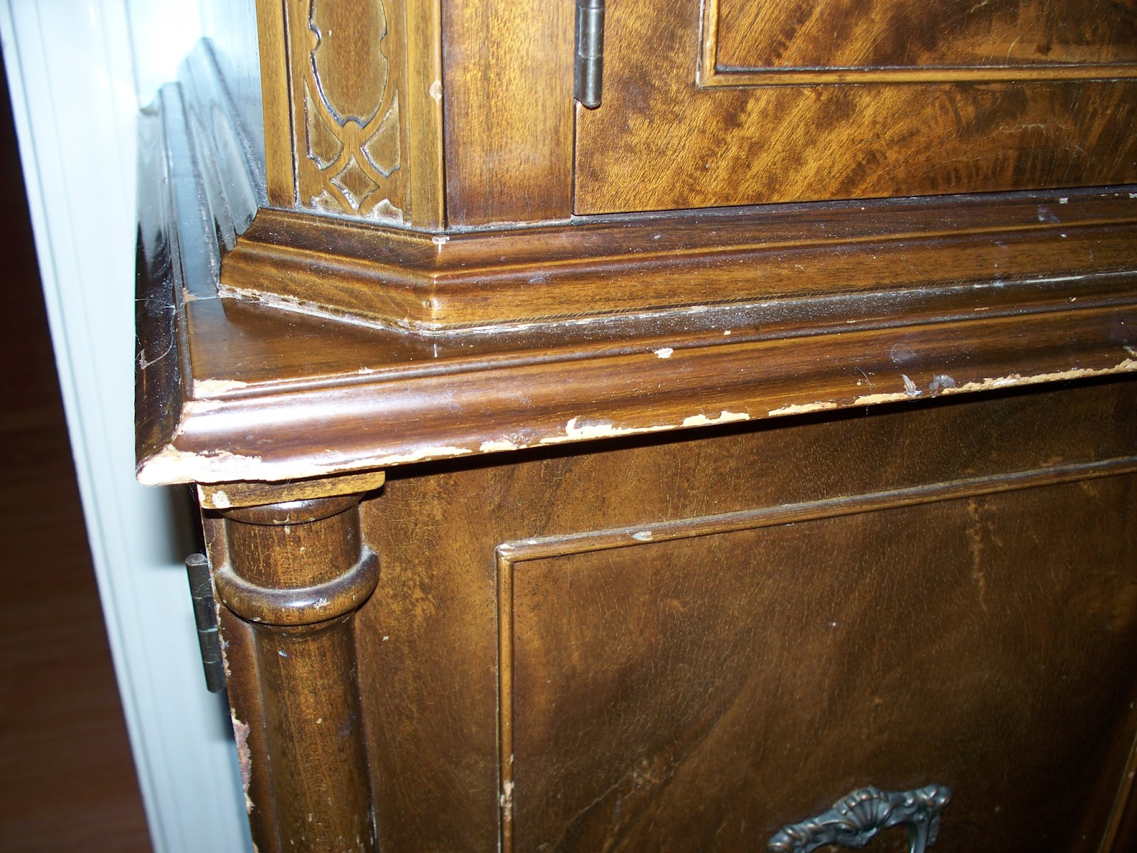 And in case you don t here s a close up. RESTORE ANTIQUE FURNITURE WITHOUT STRIPPING   AMAZING