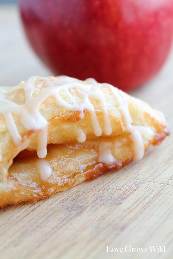 Apple Turnovers with Vanilla Glaze - Love Grows Wild