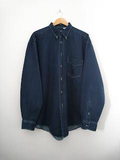 vintage mens denim shirt by hugo boss, hugo boss shirts, vintage hugo boss, vintage mens denim, cutandchicvintage denim shirt for men