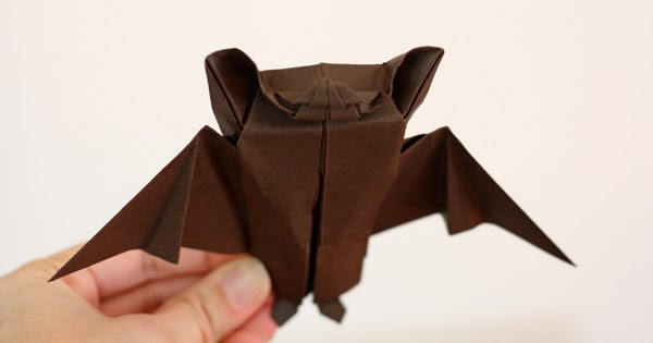 Intermediate origami bat for Halloween