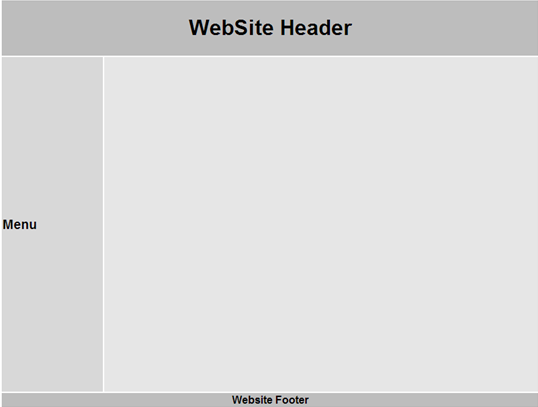 layout of a web site without using master pages