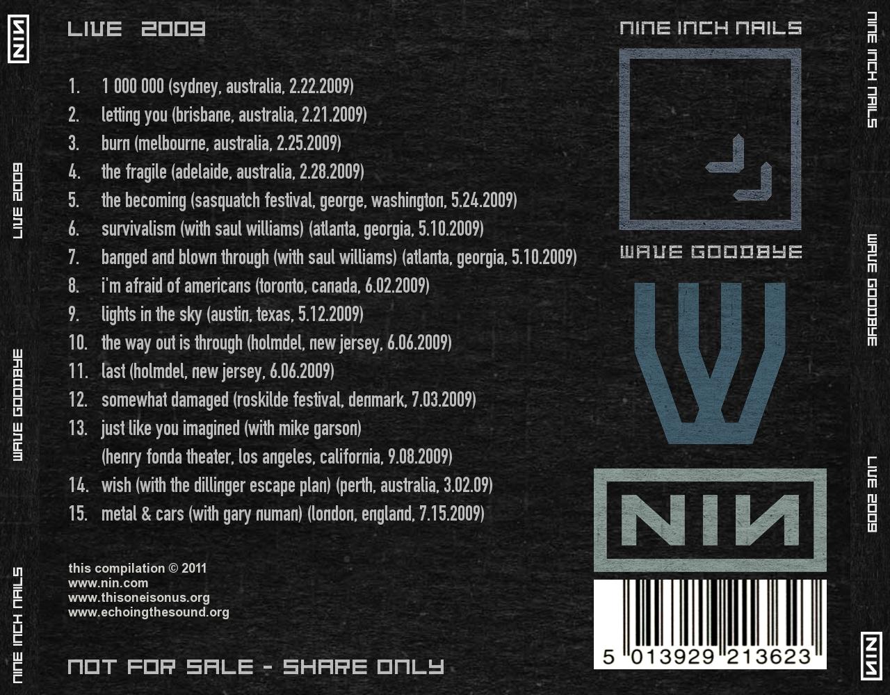 DARK CIRCLE ROOM: RE-UPLOAD: Nine Inch Nails - Live 2009 (MP3)