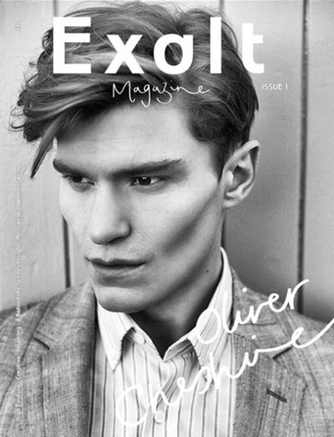 Oliver Cheshire's Exalt Magazine Cover by Alexander Beer