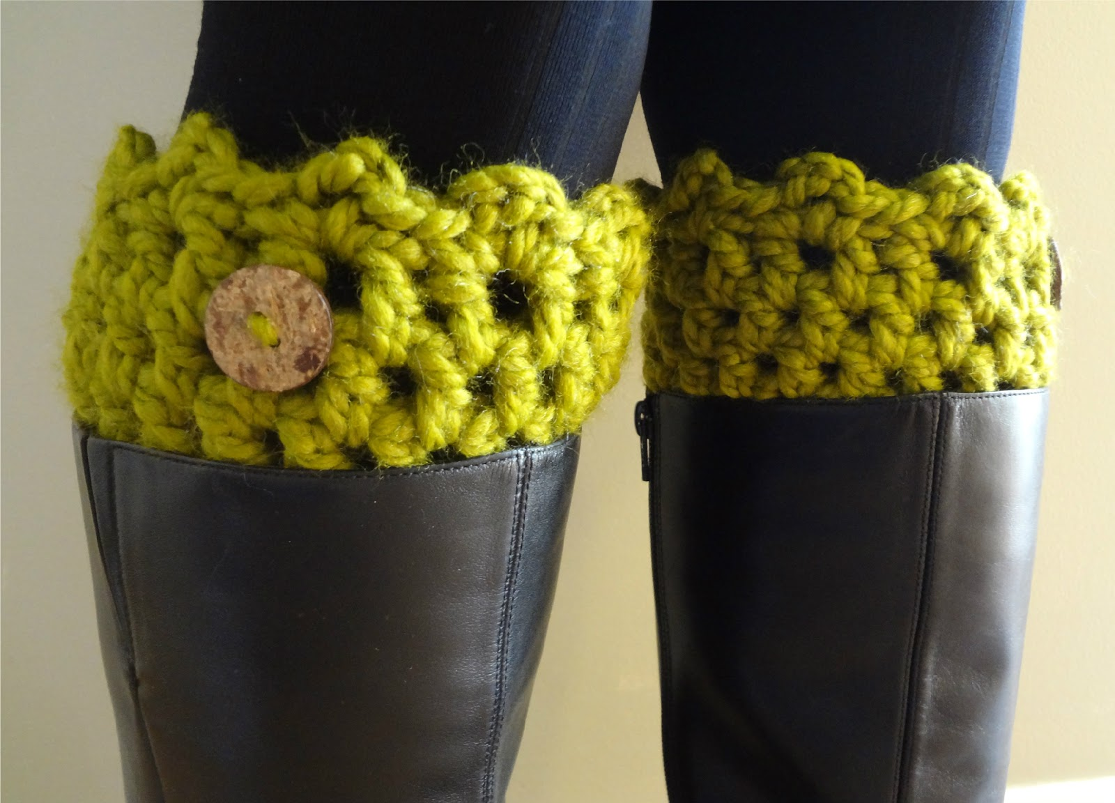 Free Crochet Patterns For Boot Cuffs With Buttons : Fiber Flux: Free Crochet Pattern... Friendship Boot Cuffs!