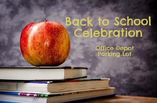 Back to School Celebration Office Depot Parking Lot