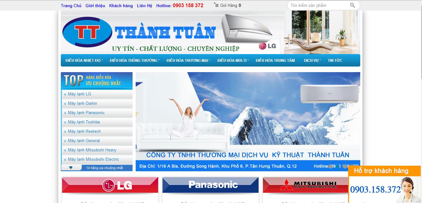 Shop Template Blogspot điều hòa, máy lạnh