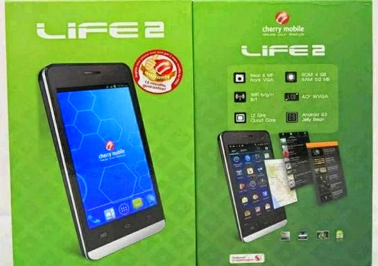 Cherry Mobile Life 2.0 Now Available For Php3,299