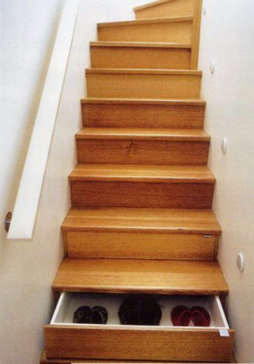 unique stairs for storage