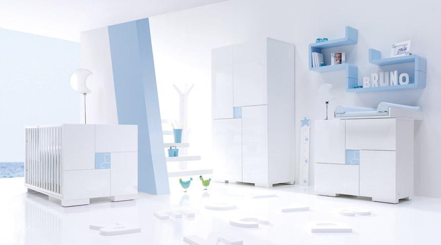 Habitaci n de bebe color celeste dormitorios con estilo - Color pared habitacion bebe ...