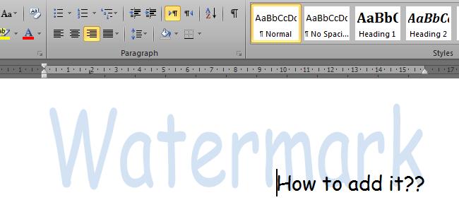 Cara Menambahkan Watermark pada Dokumen Microsoft Word