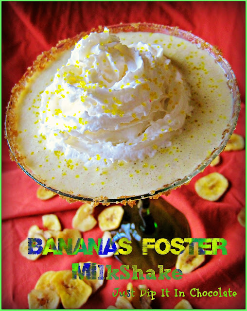 Bananas Foster Milkshake recipe, if you love your flambe bananas foster desert you are going to love the same version but in a thick and rich milkshake! Flames and all!