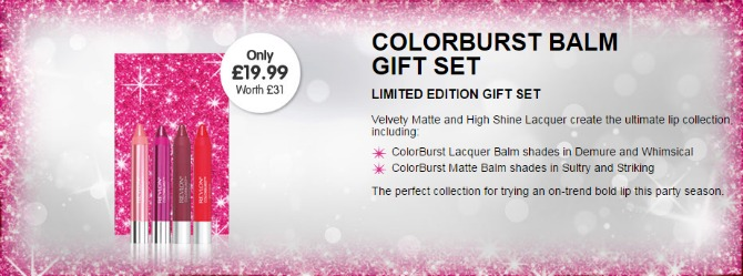 Colourburst lip balm gift set