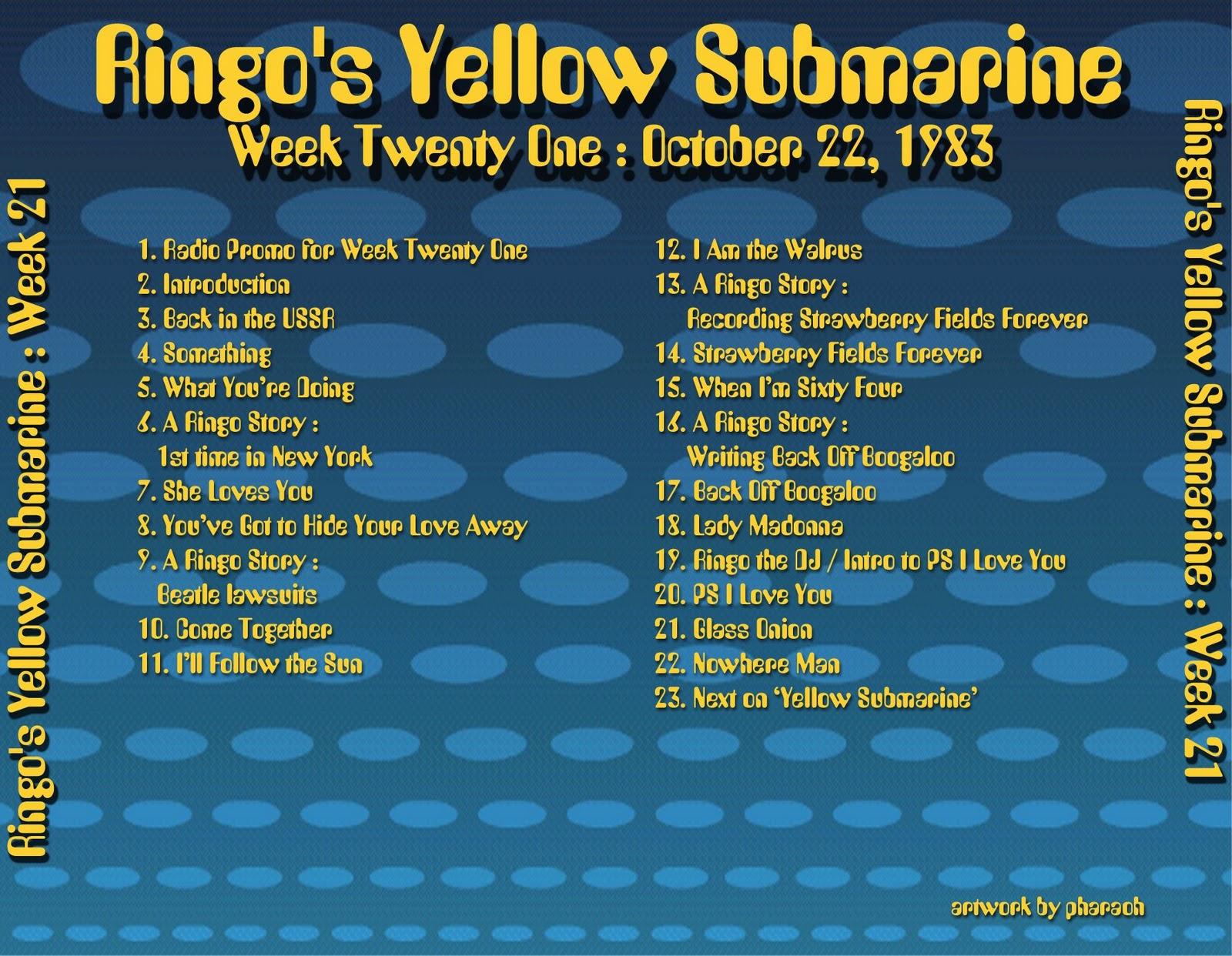 Beatles Radio Waves: 1983 10 22 Ringo's Yellow Submarine 21 #B89B13 1600 1242