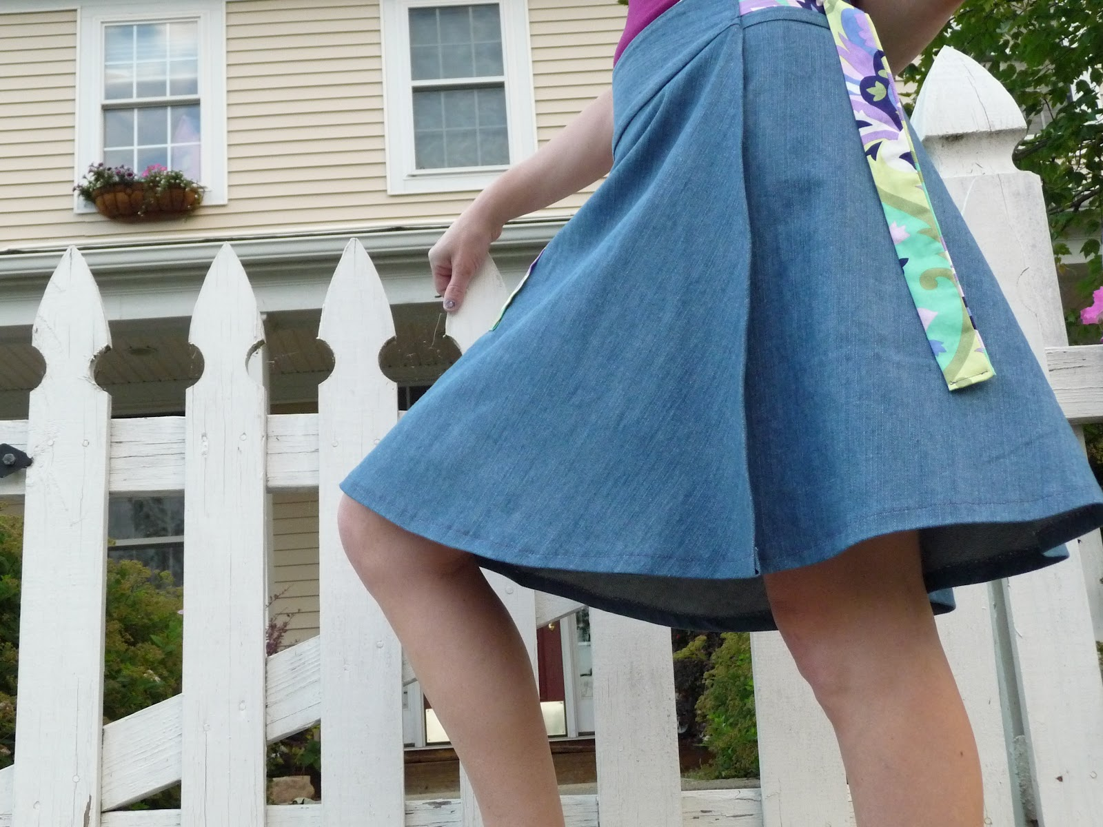 How to Make a Skirt or a Dress Out of a Scarf