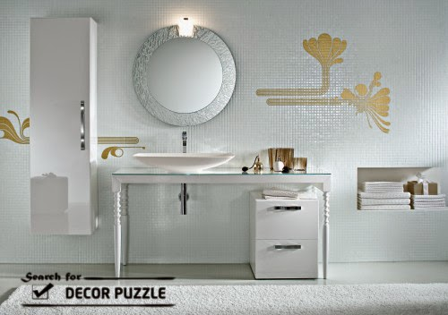 Contemporary Dressing Table, Modern White Dressing Tables For Bathroom